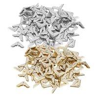 Ferramentas de artesanato 100 pcs Tone Scrapbooking Protetores de Canto Cartão Menu Menu Metal Book