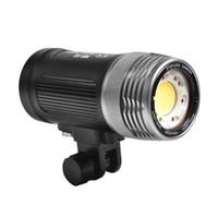 Iluminación de video bajo el agua 100M Profundamente a prueba de agua 6000lm Luz de la pofografía con interfaz de fibra óptica Diving Touch Flashes