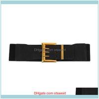 Cinturones Aessories Moda Aessorsors Blancos 1pc Vestido Elástico Cintura Cinturón Ancho Lady Cintura Ropa Aessory Drop Entrega 2021 GNTWO