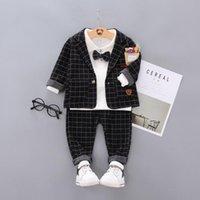Clothing Sets Spring Autumn Children Cotton Clothes Set Baby Boys T-Shirts Coat Pants 3Pcs sets Infant Kids Toddler Tracksuits