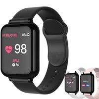 B57 الذكية ووتش للماء اللياقة البدنية تعقب الرياضة ل ios الروبوت الهاتف smartwatch القلب رصد معدل ضغط الدم وظائف A1