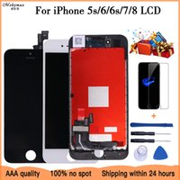 White Black for iPhone 5s 7 8 with 3D Force Touch Screen Digitizer Assembly No Dead Pixel lcd Display for 6 6s