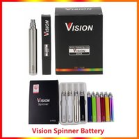 Vision Spinner electronic cigarette ego c twist 3.3-4.8V Variable Voltage VV battery 650 900 1100 1300mAh e cigs ego Cartridges atomizers