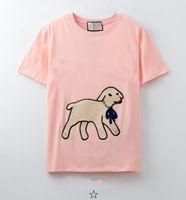 Летний мужской дизайнер футболка мода бренды женские свободные тройники роскошные пары уличные хип хмель с коротким рукавом футболки размер S-XL