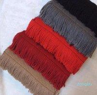 Winter LOGOMANIA SHINE Brand Luxury Scarf Women and Men Two Side Black Red Silk Wool Blanket Scarfs Fashion Rainbow Flower Scarves