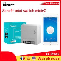 Smart Home Control Sonoff Mini Switch Minir2 Wireless WiFi LAN App وحدة عن بعد وحدة متوافقة Alexa Google IFTSMART EWELINK