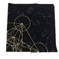 60 *60 cm altar clothmetatrone's cub crystal gridTarot Astrology Board Game Embroidery Crafts Tarot Tablecloth