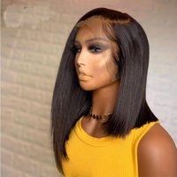 Synthetic Wigs Preplucked Natural Color Silky Straight Transparent Lace Front Wig For Black Women With Baby Hair Daily Heat Temperature