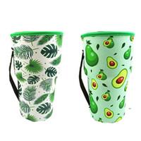 병 홀더 커버 Drinkware Bags Neoprene 절연 슬리브 가방 해바라기 야구 아이스 커피 컵 물 병 슬리브 30oz FWE8473