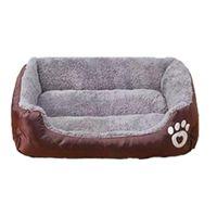 آثار أقدام أفخم عش الحيوانات الأليفة بيت الكلب الكلب الدافئة الناعمة النوم السرير وسادة بيوت الكليوي