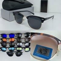 럭셔리 새로운 브랜드 편광 디자이너 선글라스 남성 여성 파일럿 UV400 안경 안경 금속 프레임 폴라로이드 렌즈 상자