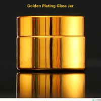 Depolama Şişeleri Kavanoz 6PS Yüksek Kalite, 20g Boş UV Kaplama Altın Gümüş Cam Kozmetik Konteyner, Kapaklı Doldurulabilir Pot Kavanoz