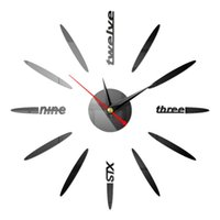 Wall Clocks Acrylic Self Adhesive Clock Mirror Surface Battery Operated Home Decor Living Room 3D DIY Mute Modern Bar Office Pointer