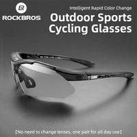 ROCKBROS Outdoor Eyewear Cycling Glasses Photochromic Bicycle Sports Sunglasses Men Women UV400 Ultralight MTB Road Bike Goggles