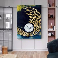 Fish Beach Abstract Pictures Canvas Prints Wall Art For Living Room Decoration Posters And Prints For Home NO FRAME