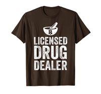 Presente do estudante da farmácia do farmacêutico T-shirt licenciado engraçado do traficante