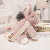Mignon unicorn peluche peluche sac à dos enfants jouet animal dessin animé sac à dos fille anniversaire cadeau d'anniversaire