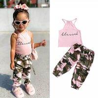 مجموعات ملابس الاطفال الفتيات ملابس الطفل ملابس الأطفال طفل ارتداء الصيف القطن تانك القمم السراويل السراويل 2 قطع الأزياء الدعاوى 1-5y B5054