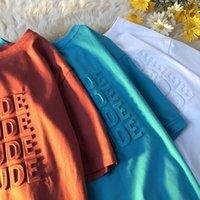 3d إلكتروني الإبداعية نمط تي شيرت شخصية الطباعة بلون الرجال ارتداء الصيف جولة طوق أزياء بسيطة الاتجاه الأكمام قصيرة