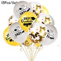 İyi şanslar mezun folyo balonlar parti malzemeleri mezuniyet töreni süslemeleri doktor şapka helyum balon diploma globos 12 inç owc7378