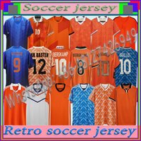 Pays-Bas Rétro Soccer Jerseys 1988 Holland 1996 2002 2014 2014 # 12 Van Basten # 10 Gullit # 17 Rijkaard 1998 # 8 Chemises de football de Bergkamp 1995 1991