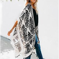 Women's Swimwear Womens Boho Printed Kimono Beach Cover Up Fashionable Summer Open Front Loose Cardigan Top With Tassel Thin Jumper Tops Hol