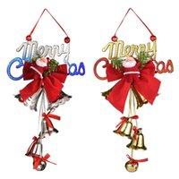 Presente Decoração de árvore de Natal Boneco de neve Bell Pingente Crianças Brinquedo Ano Novo Festa Fontes