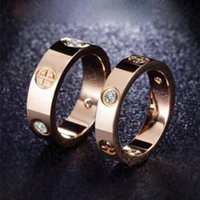 4mm 5mm Titanium Ateel Silver Love Ring Men and Women Rose Gold Rings For Lovers Couple Ring Jewelry Gift Wholesale KR001