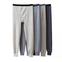 Хлопковое тепловое белье мужчины длинные Джонс зимний теплый сон днища мужские плетеные длинные Джонс для трудовых длинных цветов 210910