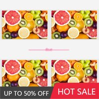 Mats & Pads Vlyzn Home 4Pcs Set Placemats Fruits Pattern Table Mat Dining Tableware Coasters Plate Bar Tapete De Lugar For Kids