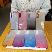 Gradient Glitter Cases for iphone 12 pro max mini 11 Samsung S20 Ultra S21 A51 A71 Cell Phone Case Anti-fall Protective Cover