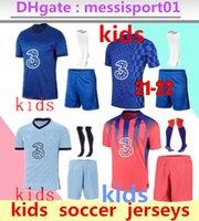 2021 2022 Willian Pulisic Kids CFC Soccer Jersey Kits 21/22 Camisa de Futbol Kante Giroud كرة القدم قميص