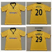 2010 الذئاب الرجعية لكرة القدم الفانيلة قمصان كرة القدم الرجال مايلوتس دي القدم الأحجام S-XXL
