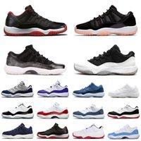 11 11S 남성 여성 농구 신발 25 번째 점프 만 주년 기념 기념일 Jubilee 낮은 화이트 브리드 콩코드 23 GS 감마 블루 메탈릭 실버 플래티넘 틴트 스니커즈