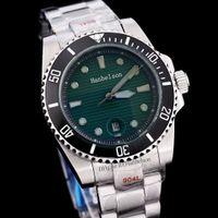 Mode Keramik Lünette Männer Uhr Armband Leuchtende grüne Mens Luxus Mechanische Edelstahl Automatische Bewegung Sportuhren Armbanduhren Designer