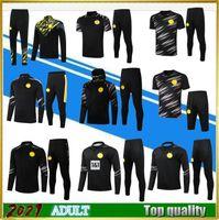 2021 Sancho Haaland Futbol Eğitim Takım Elbise Ceket Setleri Uzun Kollu Eşofmanlar 20/21 Survetement Reus Tehlike Spor Giyim Futbol Hoodie Polo Kiti