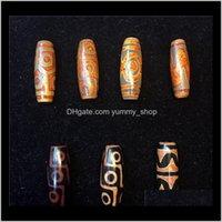 Vendita 1540 Tibetano 2 Eyes9 Eyes Dzi Dzi Natural Agata Pietre perline antiche antiche perline allentati per pendenti di collana fai da te 9BFPY Stone UKFPA