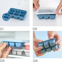 6 Lattice Ice Cube Tray Tools Food Grade Silicone Candy Cake Mold Baking Cakes Cream Moulds With Lids Kitchen Accessories EWD6838