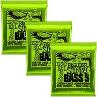 3 Pack EnBall Nickel Round Round Blesson 2834 2835 4 cordes, 2836 cordes de basse électrique à 5 cordes
