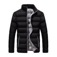 Men's Down & Parkas New Winter Men Autumn Ultra-thin Warm Outwear Brand Slim-fit Solid Color Short Coat Stand Collar Cotton Coats Casual Windbreaker Jackets Mens M-6XL