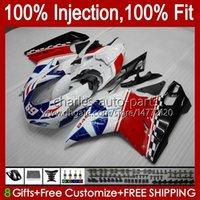 Carrosserie voor Ducati 848 1098 1198 S 07 08 09 10 11 848R 1098R 75hm4 Matte Black 848S 1198R 1098S 1198S 2007 2009 2009 2010 2011 Fairing Kit