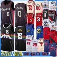 CJ 3 McCollum Nikola 15Jokic Damian 0 LILLARD JERSEY GRATIS Irick 25 Rose 27 Murray 00 Anthony 2021 NCAA New Basketball Jesreys + Shirts