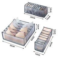 Nova gaveta caixa de armazenamento de sutiã organizador organizador underpants peúgas caixa de acabamento dobrável 24 grade divisor sutiã sudtries ewb7071