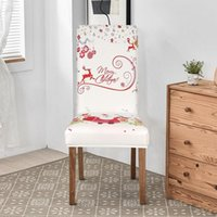 Chair Covers Christmas Cover Polyester Stretch Dining Anti-dirty For Wedding El Banquet Living Room Home Decoration