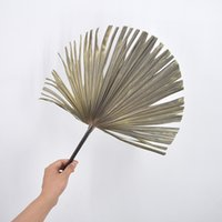 1pc Flower Secco Natural PU Foglia di foglia di foglia per fai da te Negozio di casa Display Decorazione materiali conservati foglie di palma per arredamento di nozze 1186 V2