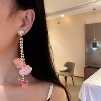 Fashion Geometric Long Tassel Dangle Earrings For Women Wedding Vintage Flower Statment Gifts Earrings Jewelry