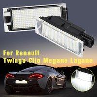 2x 18 LED License Number Plate Light Lamp For Renault Megane 2 Clio Laguna 2 Megane 3 Twingo Master Vel Satis Signal Lamp