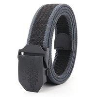 Belts Mens Metal Slide Buckle Waist Breathable Canvas Army Military Black Fashion Unisex Jeans Accessories Women Leisure Strap