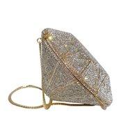 تجميل Xiyuan مصمم مخروط أكياس الكريستال الملونة الأزياء هندسية مخلب المرأة حزب مساء محفظة حقائب اليد