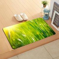 카펫 사용자 정의 유리 Doormat 바닥 / 목욕 / 주방 매트 플란넬 스폰지 패브릭 3D 인쇄 침실에 대 한 인쇄 털이 장식